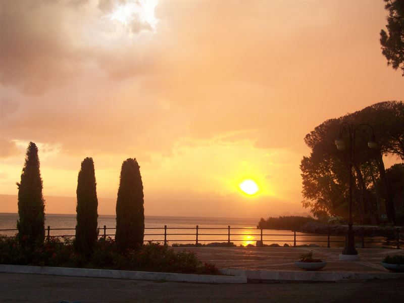 Beautiful sunset over Lake Bolsena