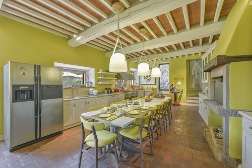 Il colle vakantiehuis in radda in chianti siena toscane - Eetkamer leunstoel ...