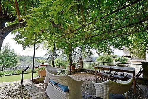 Casa allegra montebuoni vakantiehuis in lecchi in chianti gaiole in chianti siena toscane - Smeedijzeren pergolas voor terras ...